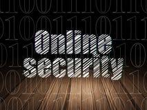 Концепция защиты: Онлайн безопасность в темноте grunge Стоковое Изображение RF
