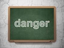 Концепция защиты: Опасность на предпосылке доски бесплатная иллюстрация