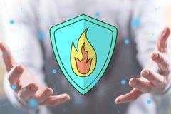 Концепция защиты от огня стоковые фотографии rf