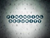 Концепция защиты: Финансовая обеспеченность на цифров Стоковые Изображения RF