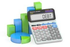 Концепция задолженности, перевод 3D Стоковое Изображение