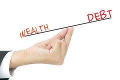 Концепция задолженности Стоковое Фото