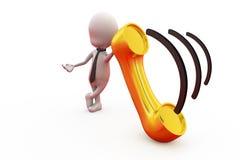 концепция звонка человека 3d Стоковая Фотография RF
