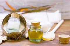Концепция здоровья курорта кокоса Стоковое фото RF