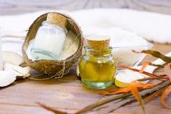 Концепция здоровья курорта кокоса Стоковая Фотография RF