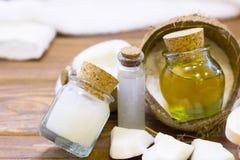 Концепция здоровья курорта кокоса Стоковые Изображения