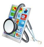 Концепция здоровья ремонта мобильного телефона иллюстрация вектора