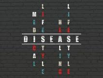 Концепция здравоохранения: Заболевание в кроссворде стоковая фотография