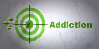 Концепция здравоохранения: цель и наркомания на предпосылке стены