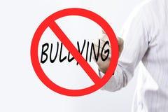 Концепция знака запрета сочинительства руки бизнесмена задирая с Стоковое Фото
