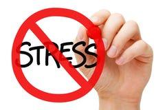 Концепция знака запрета стресса стоковое изображение