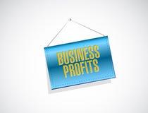 Концепция знака знамени доходов от бизнеса Стоковые Фото