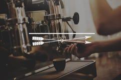 Концепция знака художественного произведения искусства дизайна стрелки графическая Стоковое Изображение