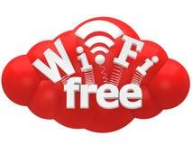 Концепция знака Wi-Fi Стоковые Изображения