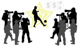 Концепция знаменитого футболиста Стоковые Изображения