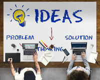 Концепция значка лампочки нововведения идей Стоковая Фотография RF
