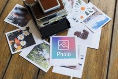Концепция значка дизайна камеры фото творческая Стоковые Изображения RF