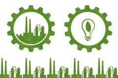 Концепция значка идеи промышленная Стоковые Изображения