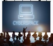 Концепция значка компьютера средств массовой информации вебсайта Веб-страницы Стоковая Фотография RF