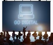 Концепция значка компьютера средств массовой информации вебсайта Веб-страницы Стоковая Фотография