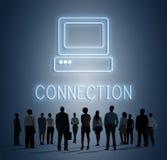 Концепция значка компьютера средств массовой информации вебсайта Веб-страницы Стоковые Фотографии RF