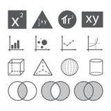 Концепция значка математики Стоковые Изображения
