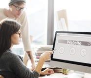 Концепция значка облака глобуса игрока бара поиска вебсайта Стоковые Изображения RF