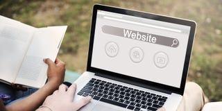 Концепция значка облака глобуса игрока бара поиска вебсайта Стоковые Фотографии RF
