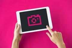 Концепция значка технологии применения устройства Стоковое фото RF