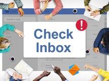 Концепция значка уведомления ящика входящей почты сообщения Стоковое Изображение RF