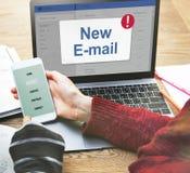 Концепция значка уведомления ящика входящей почты сообщения Стоковые Фото