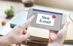 Концепция значка уведомления ящика входящей почты сообщения Стоковые Изображения