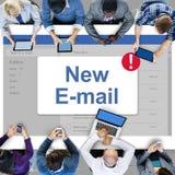 Концепция значка уведомления ящика входящей почты сообщения Стоковое Изображение