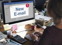 Концепция значка уведомления ящика входящей почты сообщения Стоковая Фотография