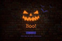 Концепция значка хеллоуина шиканья Eve всего Святого Стоковое Изображение RF