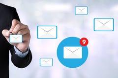 Концепция значка электронной почты Стоковое Фото