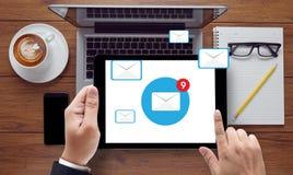 Концепция значка электронной почты Стоковые Изображения