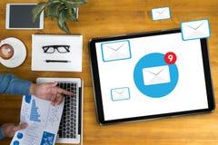 Концепция значка электронной почты Стоковая Фотография