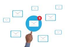 Концепция значка электронной почты Стоковая Фотография RF