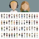 Концепция значков дизайна людей общины разнообразия плоская Стоковые Изображения
