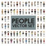 Концепция значков дизайна людей общины разнообразия плоская Стоковые Фото