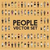 Концепция значков дизайна людей общины разнообразия плоская Стоковое Изображение