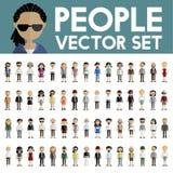 Концепция значков дизайна людей общины разнообразия плоская Стоковая Фотография RF