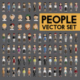Концепция значков дизайна людей общины разнообразия плоская Стоковые Изображения RF