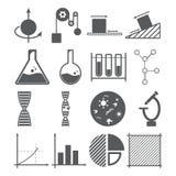 Концепция значков науки иллюстрация вектора