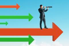 Концепция зрения и успеха стоковое фото rf