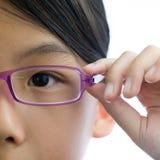 Концепция зрения ребенка стоковое фото