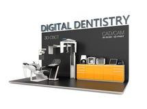 Концепция зубоврачевания цифров бесплатная иллюстрация