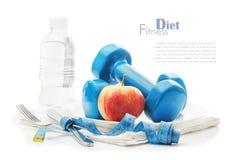 Концепция здорового образа жизни, диеты, спорт Стоковые Фотографии RF
