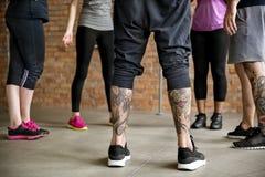 Концепция здоровья фитнеса тренировки разминки стоковые фото